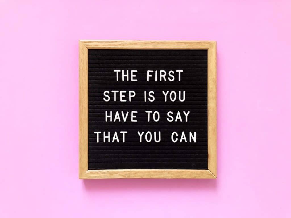 La première étape est de dire que vous pouvez